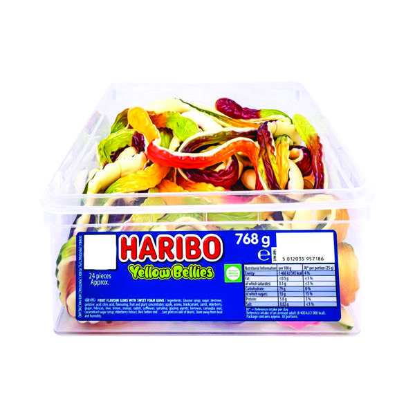 Sweets/Chocolate Haribo Giant Yellow Bellies Tub 096444