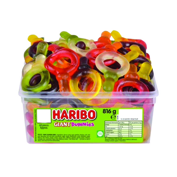 Sweets/Chocolate Haribo Giant Dummies Tub 135440
