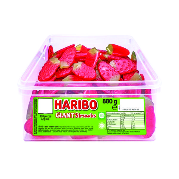 Sweets/Chocolate Haribo Giant Strawbs Drum 9547