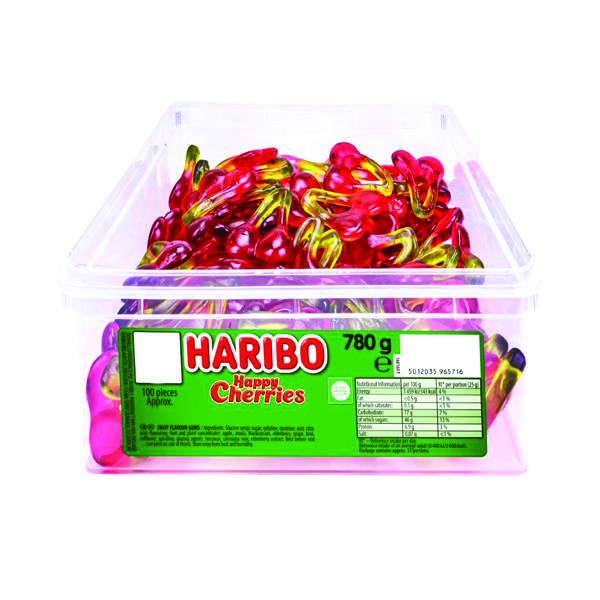 Sweets/Chocolate Haribo Giant Happy Cherries Tub 12244