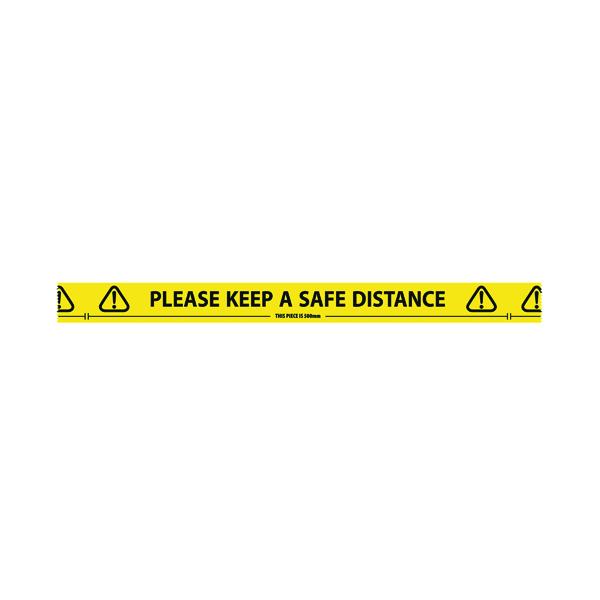 Social Distancing Floor Tape Roll 33m 4833YB
