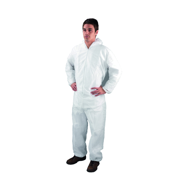 Unspecified Medium White Non-Woven Coverall DC03