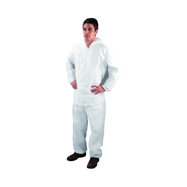 Unspecified Large White Non-Woven Coverall DC03