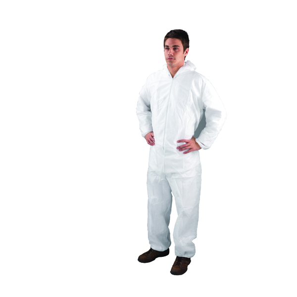 Unspecified XXL White Non-Woven Coverall DC03