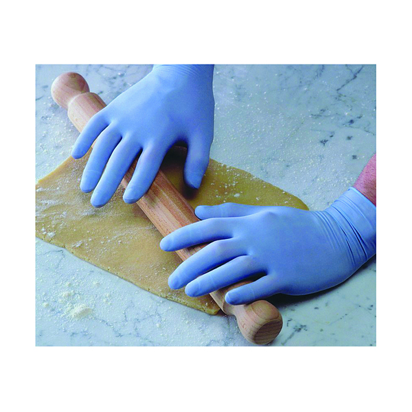 Shield Powder-Free Blue Latex Small Gloves (100 Pack) GD40