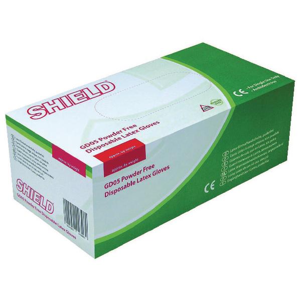 Shield Xsmall Powder Free Latex Gloves (1000 Pack) HEA01299