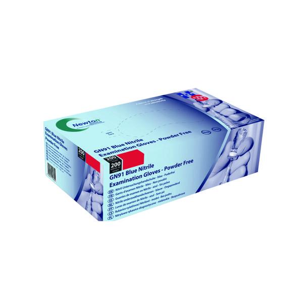 Handsafe Nitrile Cobalt Blue Large Examination Gloves Powder Free (200 Pack) GN91L