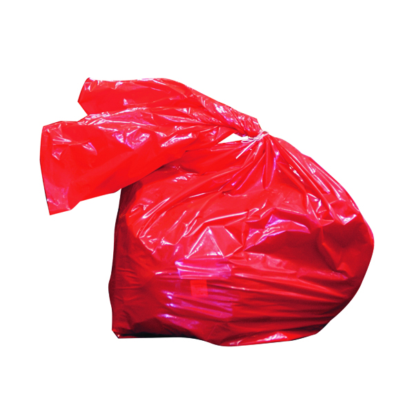 Binliner/Bags Laundry Soluble Strip Bag 50 Litre Red (200 Pack) RSB/3