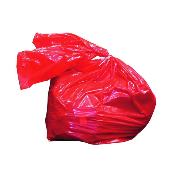 Binliner/Bags Laundry Soluble Strip Bag 80 Litre Red (200 Pack) RSB/4
