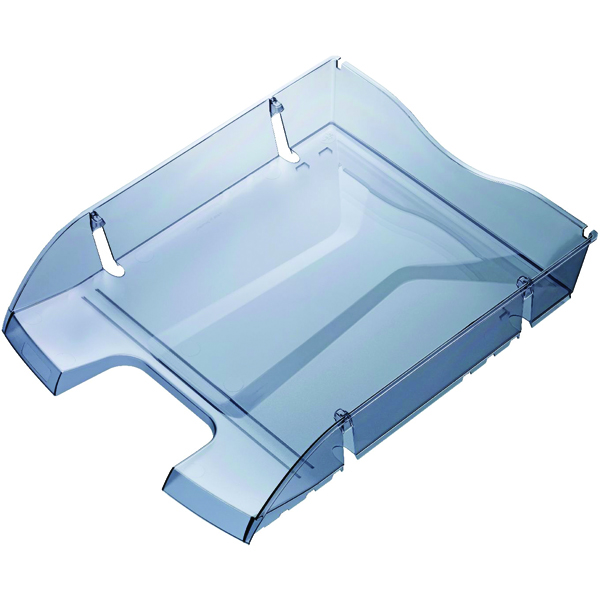 Letter Tray Helit Grey PET Recycled Letter Tray H2363508