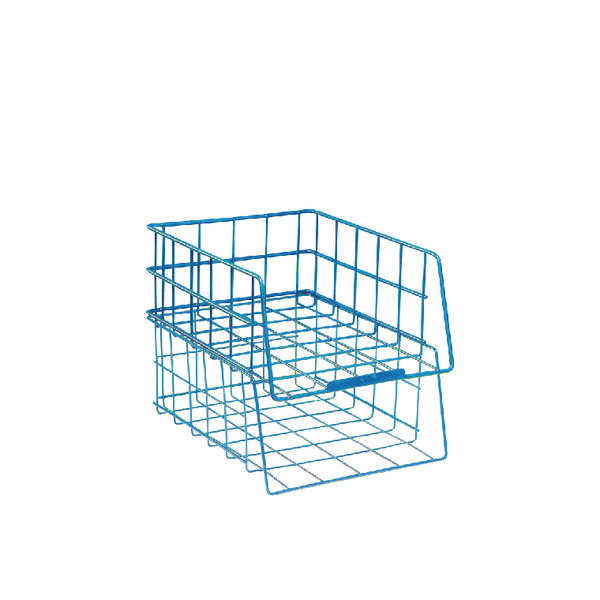 Letter Tray Wire Filing Tray Large Capacity Blue WB999BL