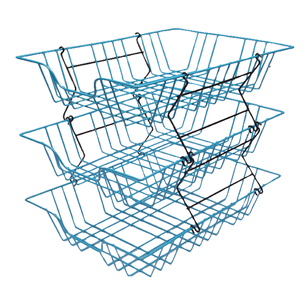 Letter Tray Wire Filing Tray A4 Blue 999BL
