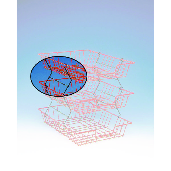Wire Filing Tray Risers Black (2 Pack) 777