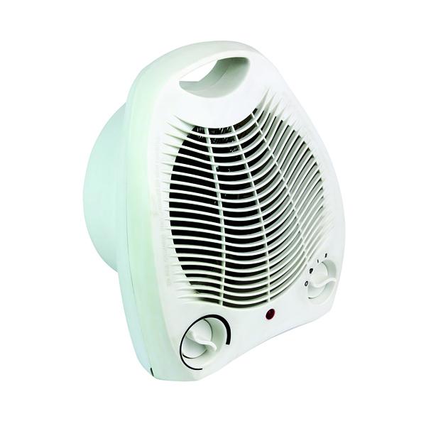 Fan Heaters Fan Heater Upright 2kW White HID52553