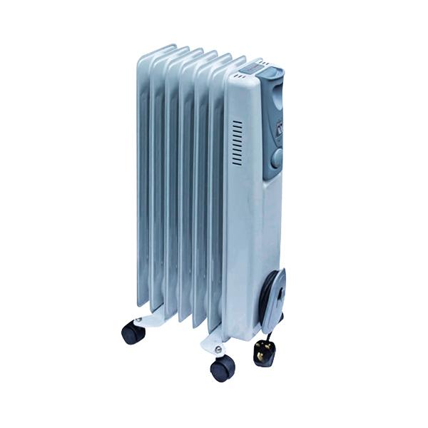 Oil Filled Radiators 1.5kW Oil-Filled Radiator White CRHOFSL7/H 42690