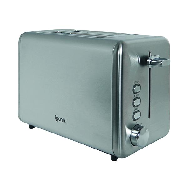 Toaster Igenix 2 Slice Steel Toaster FCL103/H