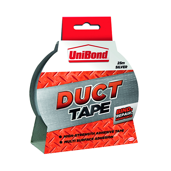 50mm UniBond Silver 50mmx25m Duct Tape 1667753