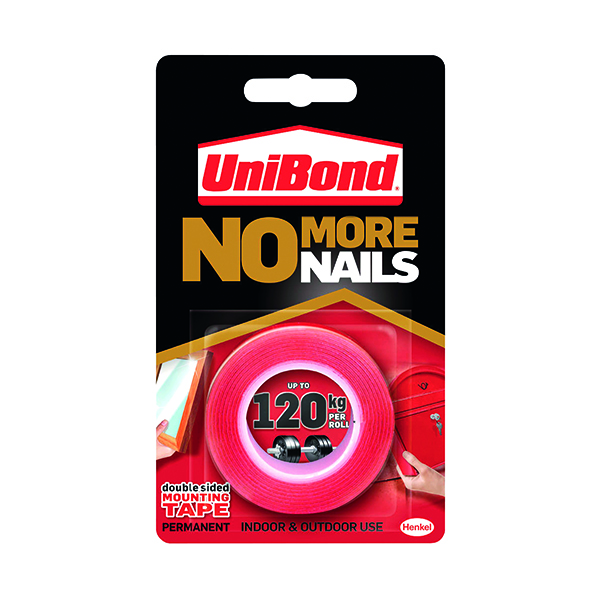 All Purpose UniBond No More Nails Ultra Strong Roll Permanent 19mm x 1.5m 781746