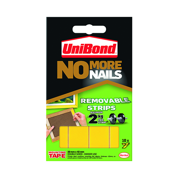 UniBond No More Nails Removable Strips (10 Pack) 781739