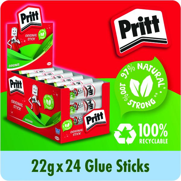 Glue Sticks Pritt Stick 22g (24 Pack) 261384