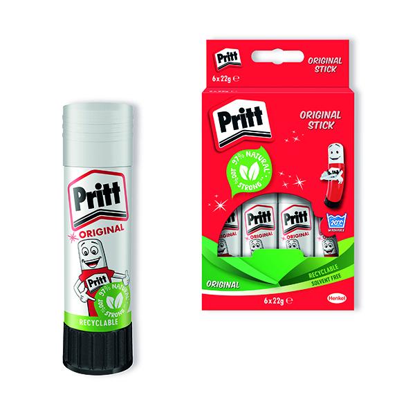 Glue Sticks Pritt Stick 22g (6 Pack) 10456071