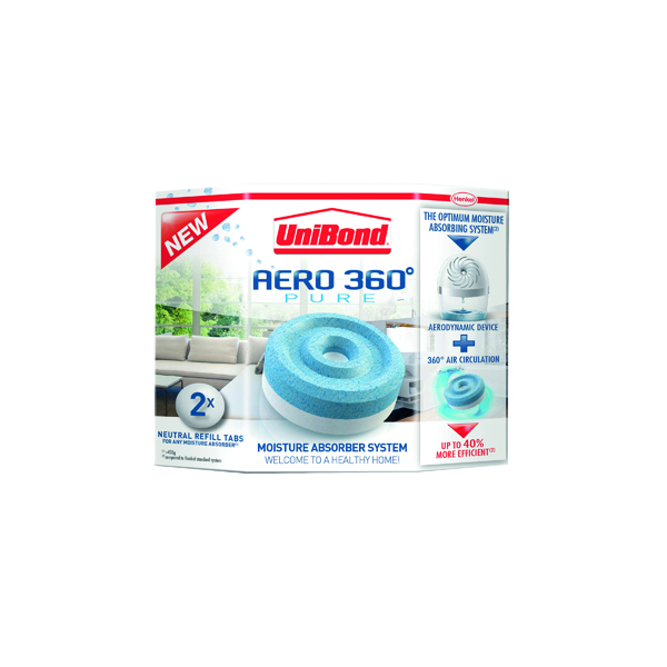 Air Conditioning Units UniBond Aero 360 Moisture Absorber Large Refill (2 Pack) 1554715