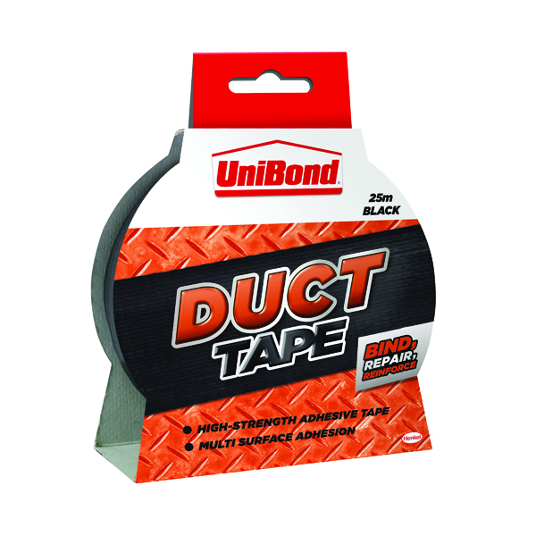 UniBond 50mm x 25m Black Duct Tape 1517009