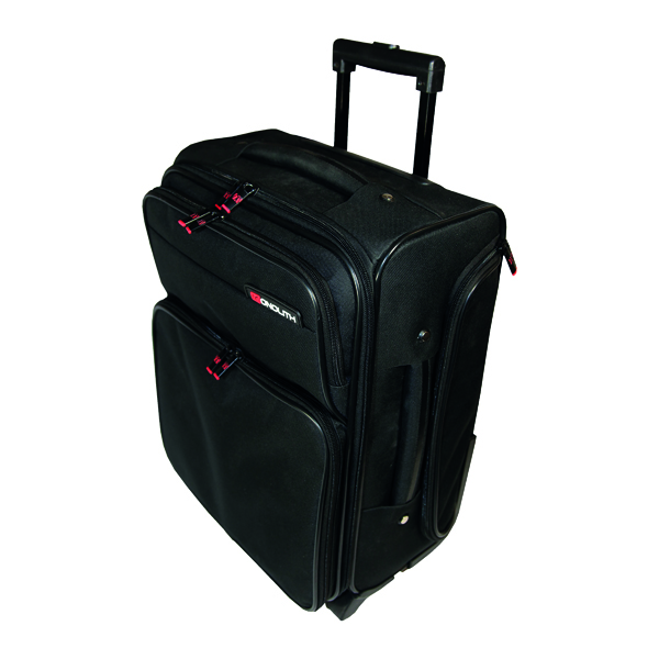 Briefcases & Luggage Monolith Wheeled Overnight Laptop Case with Removable Padded Laptop Case Black 1329