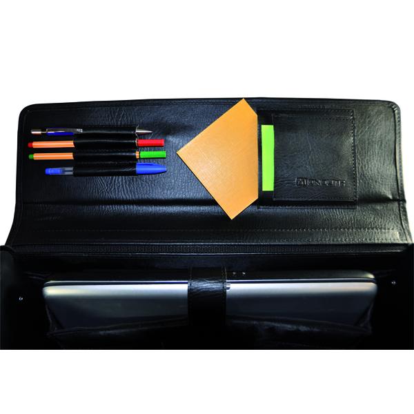 Monolith Executive Leather Look Pilot Case PVC Black 2170