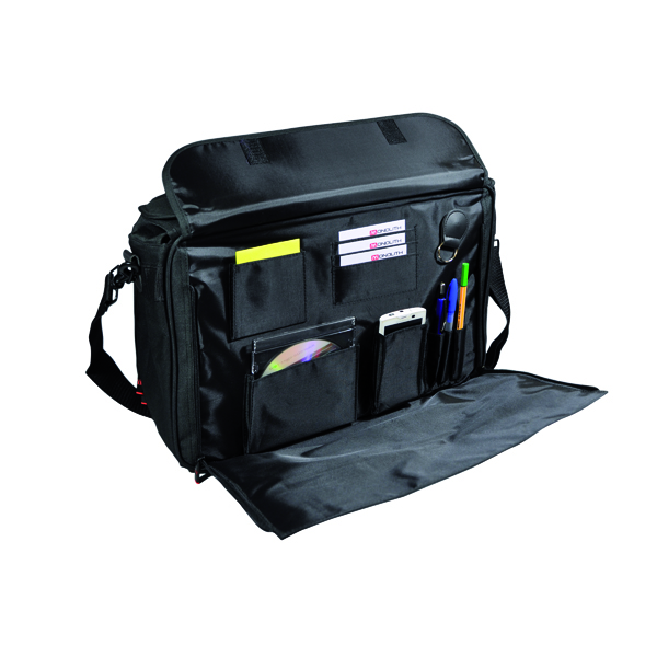 Briefcases & Luggage Monolith Polycanvas Pilot Case with Organiser Compartment Black 2168