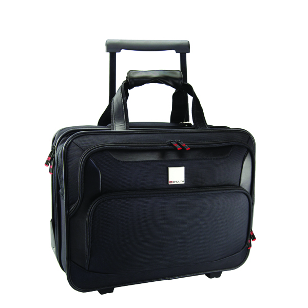 Briefcases & Luggage Monolith Deluxe Nylon Wheeled Laptop Case Black 2372