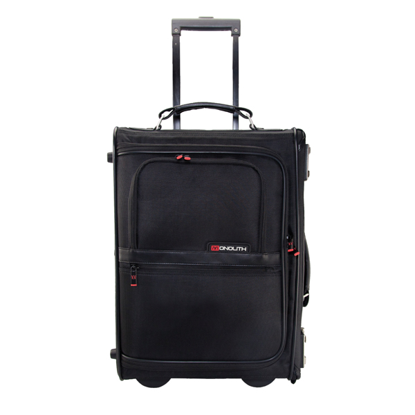 Briefcases & Luggage Monolith Nylon Wheeled Pilot Case W470 x D205 x H330mm Black 2383