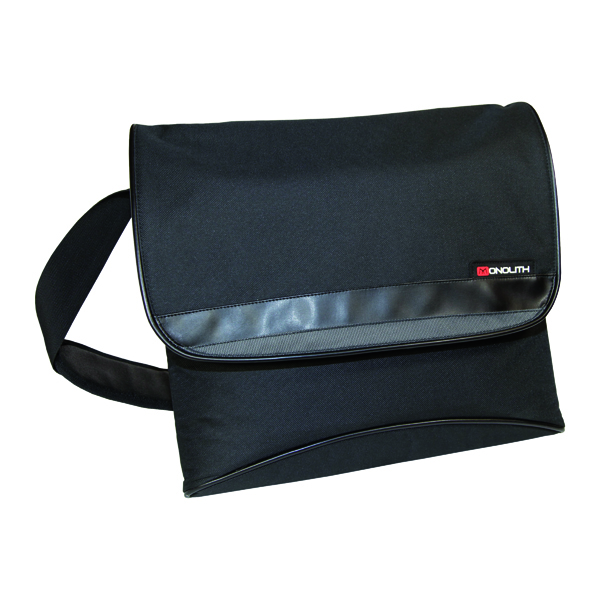 Bags Monolith Nylon Laptop Messenger Bag Black 2386
