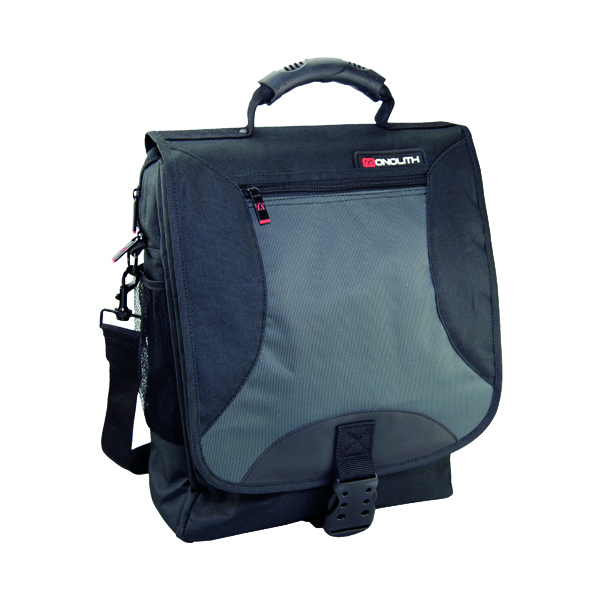 Bags Monolith Multifunctional Nylon Laptop Backpack Black and Grey 2399