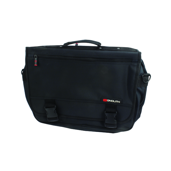 Other Manmade Monolith Microfibre Soft Sided Briefcase Black 3192
