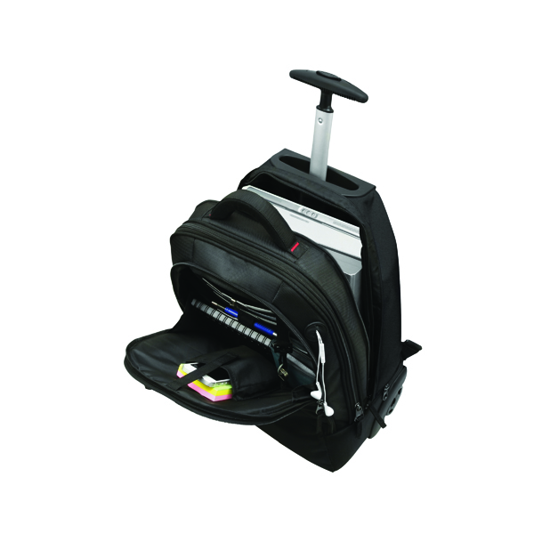 Briefcases & Luggage Monolith 2 In 1 Wheeled Laptop Backpack Black 3207