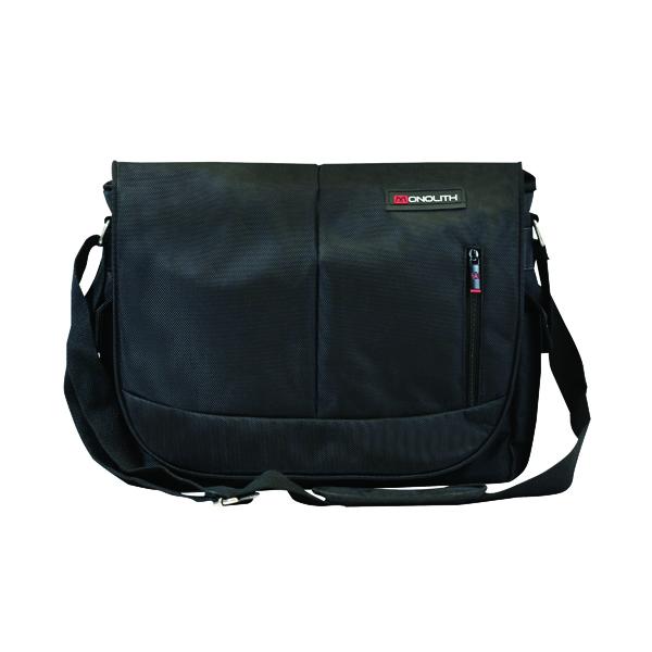 Monolith Courier Messenger Bag Black 3203