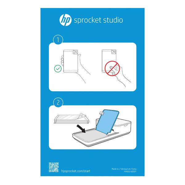 HP Sprocket Photo Paper Cartridge 102x152mm 80 Sheets 4KK83A