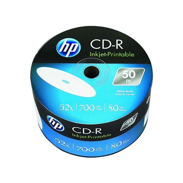 CD HP CD-R Inkjet Print 52X 700MB Wrap (50 Pack) 69301