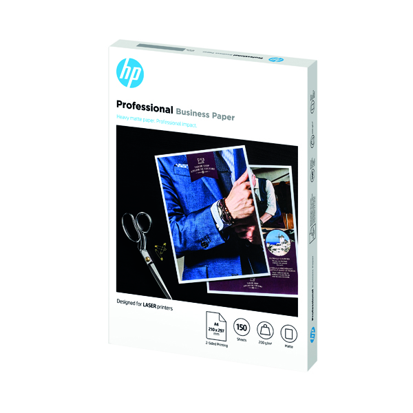 Other Sizes HP Professional Laser Jet Paper Matte 200gsm A4 150 Sheets 7MV80A