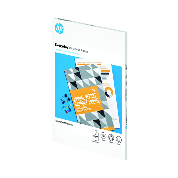 Other Sizes HP Everyday Laser Jet Paper Glossy 120gsm A3 150 Sheets 7MV81A