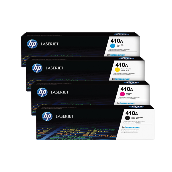 MultiColour HP 410 Toner Cartridge Bundle Cyan/Magenta/Yellow/Black (4 Pack) HP815968