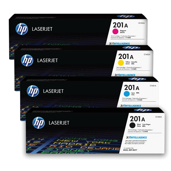 MultiColour HP 201 Toner Cartridge Bundle Cyan/Magenta/Yellow/Black (4 Pack) HP815969