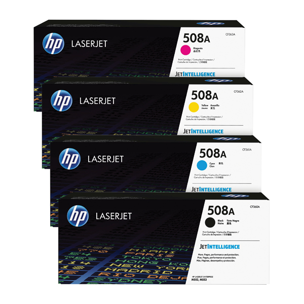 MultiColour HP 508 Toner Cartridge Bundle Cyan/Magenta/Yellow/Black (4 Pack) HP815970