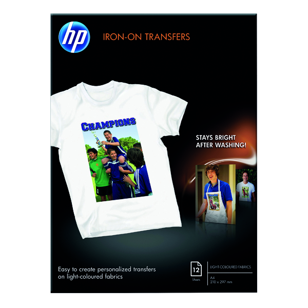 A4 HP Iron-On A4 Transfer 170gsm (12 Pack) C6050A