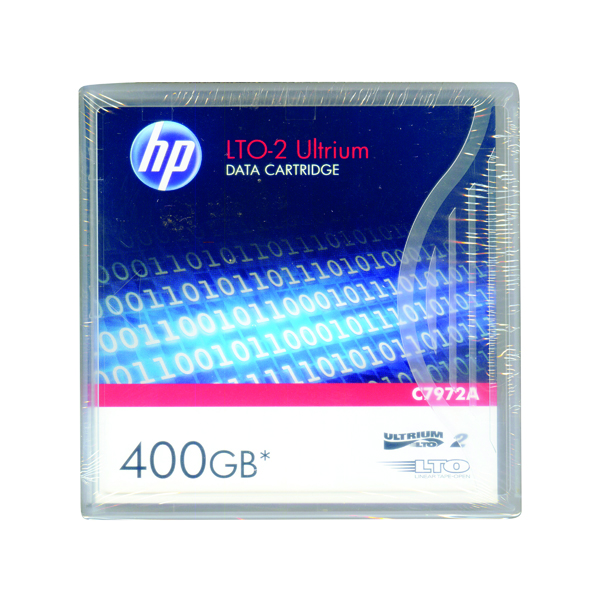 HP Ultrium LTO-2 400GB Data Cartridge C7972A