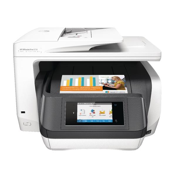 Inkjet Printers HP Officejet Pro 8730 All-in-one Printer White D9L20A