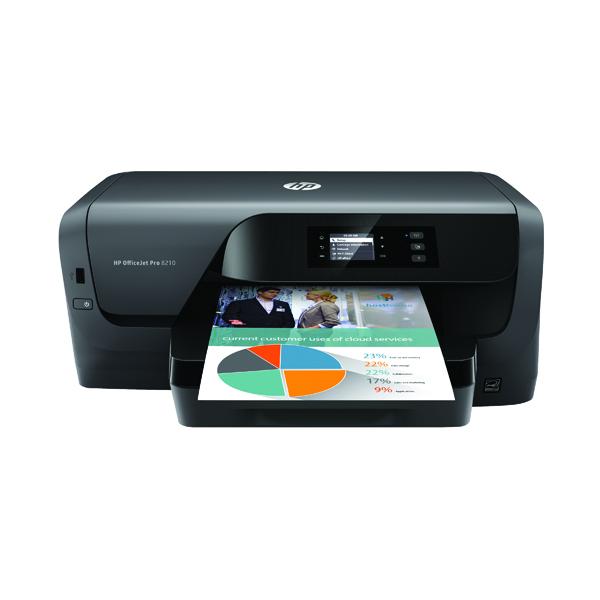 HP Officejet Pro 8210 Printer Black D9L63A