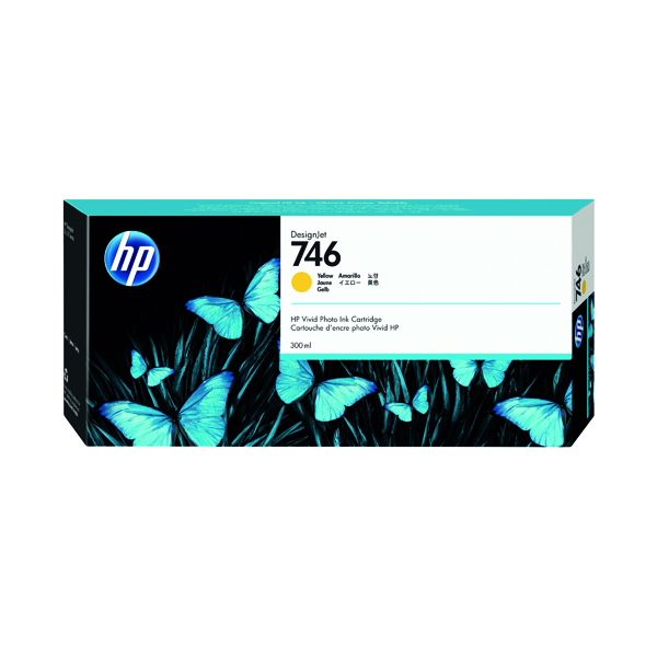 Inkjet Cartridges HP P2V79A 746 Yellow Ink 300ml