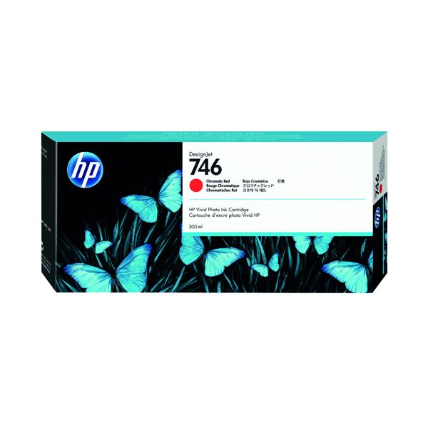 Inkjet Cartridges HP P2V81A 746 Chromatic Red Ink 300ml